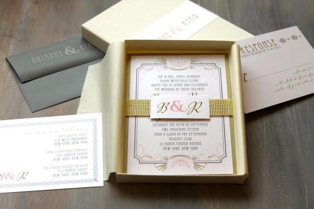 Super L'invito di matrimonio in scatola | partecipazionipermatrimonio  VZ06