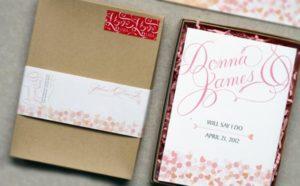 invito di matrimonio in scatola