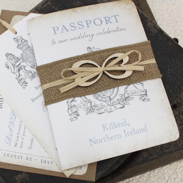 Partecipazioni Matrimonio Natalizio : Passaporto inviti matrimonio partecipazioni per