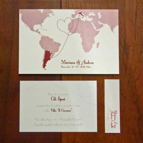 partecipazioni matrimonio a tema viaggio
