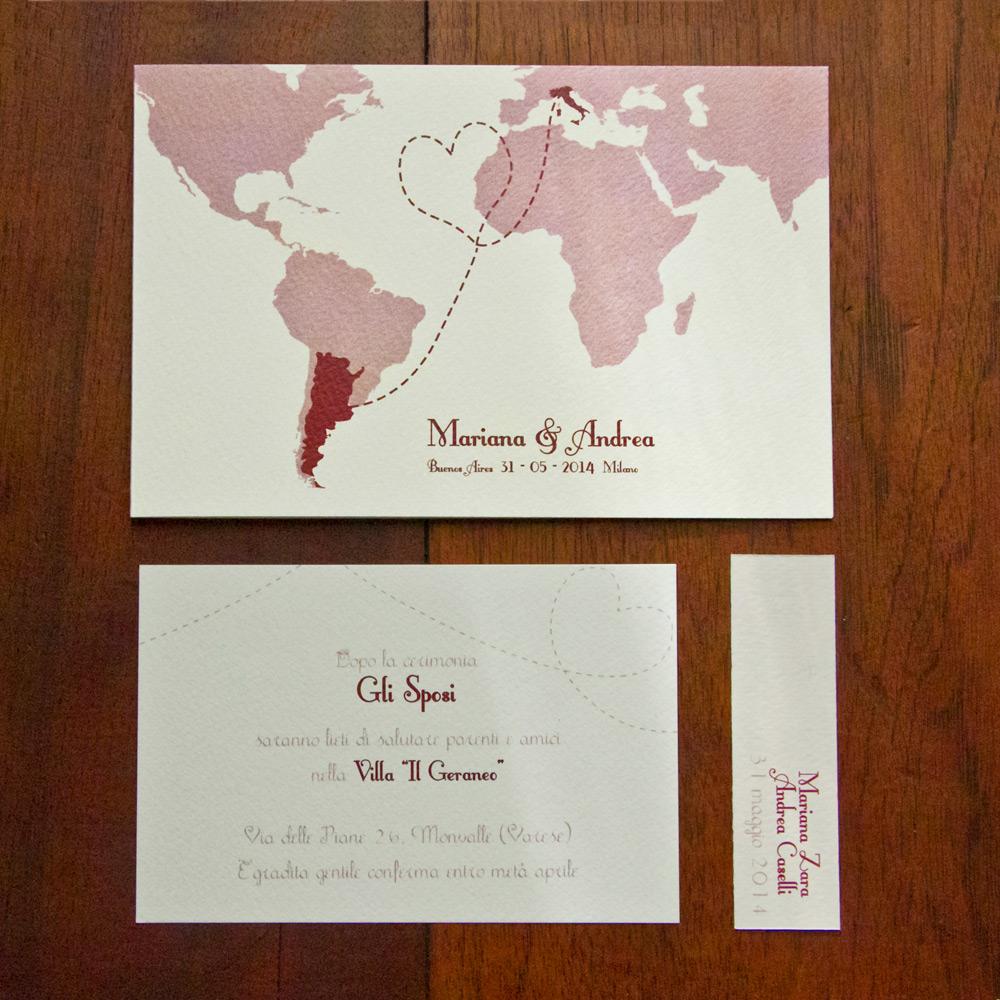 Partecipazioni Matrimonio 2018 Online.Partecipazione Di Matrimonio Mappamondo Partecipazionipermatrimonio