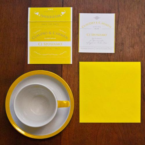 Partecipazione di nozze bustina té