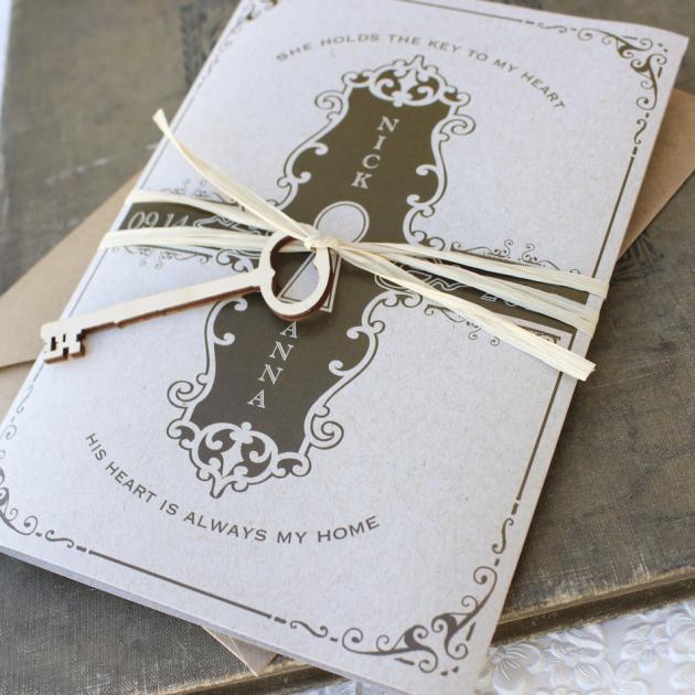 partecipazioni matrimonio con le chiavi