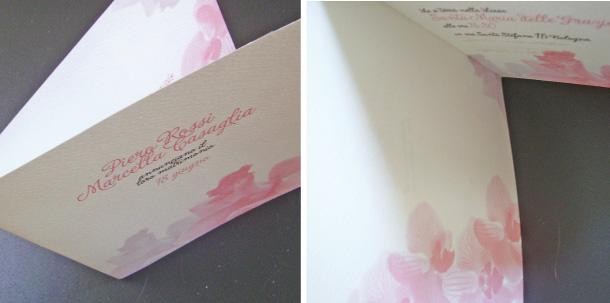 Matrimonio Tema Orchidee : Partecipazioni di matrimonio con orchidee