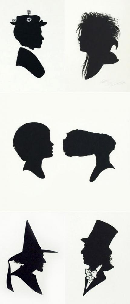 Partecipazioni di matrimonio con le silhouettes