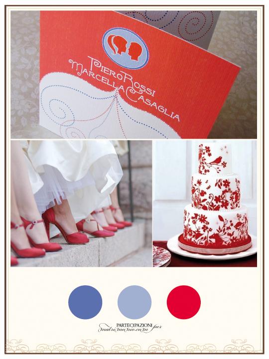 Palette colori delle vostre partecipazioni di matrimonio rosse