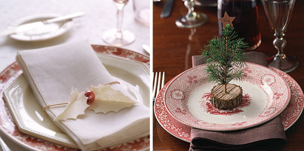Segnaposto Matrimonio Natalizio : Idee per segnaposto natalizi fai da te