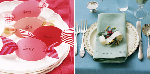 Segnaposto Per Matrimonio Natalizio : Segnaposti natalizi fai da te con la carta partecipazioni per