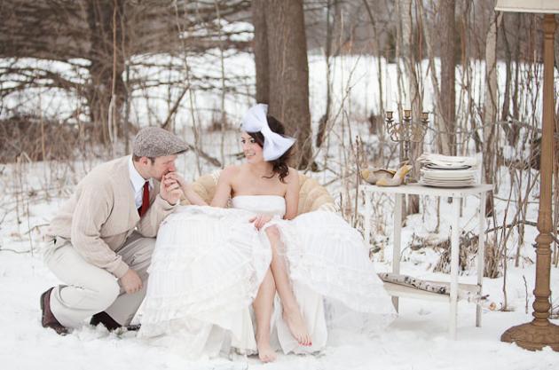 ispirazioni matrimonio in inverno