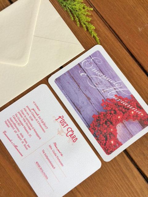 Partecipazioni Matrimonio Natalizio : Partecipazioni di matrimonio a tema natalizio e inviti