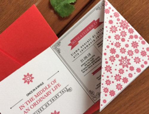 Partecipazioni di matrimonio a tema natalizio!