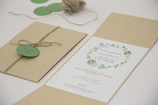 Partecipazioni di nozze in stile rustico