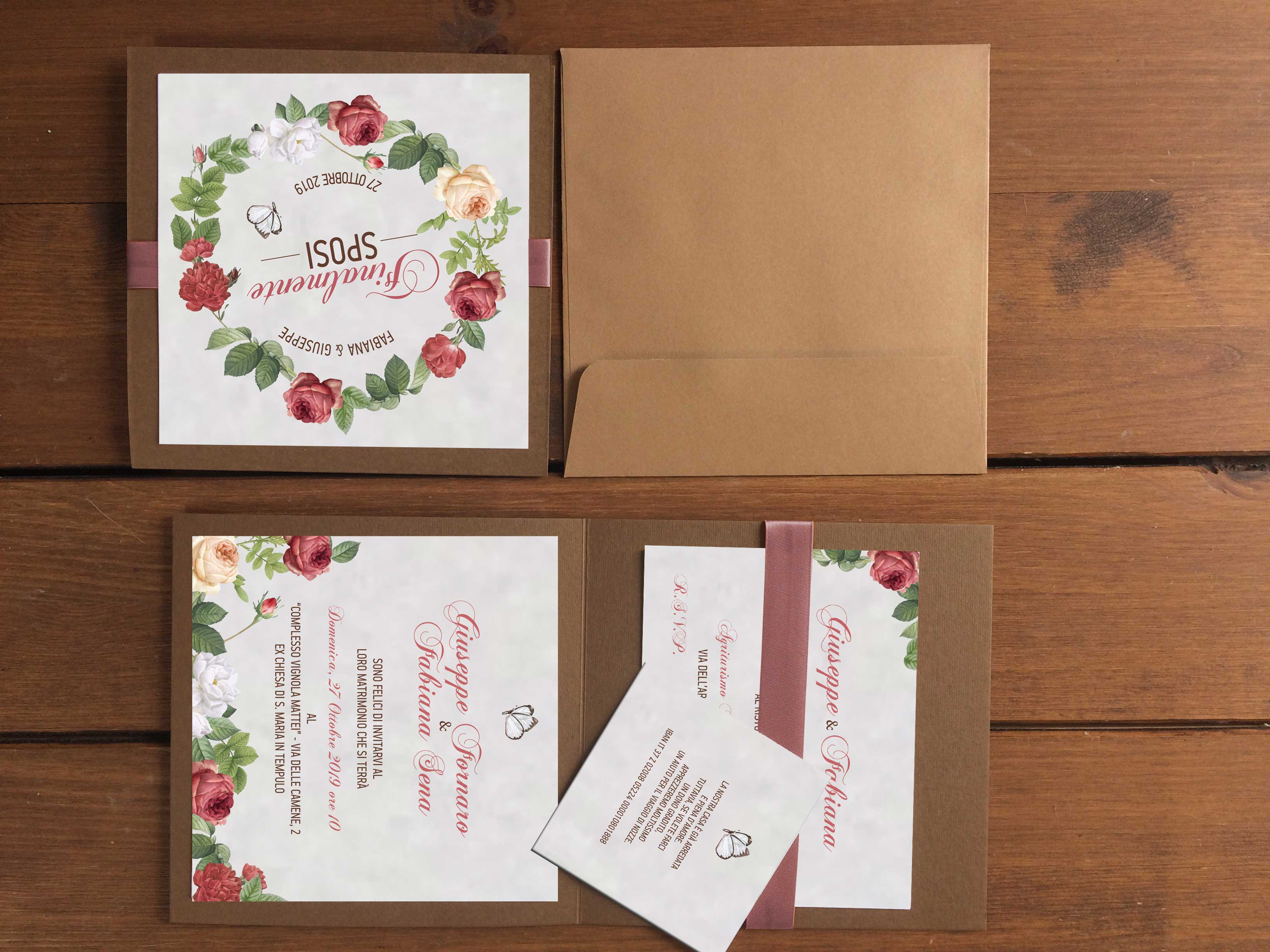 Partecipazioni di nozze autunnali