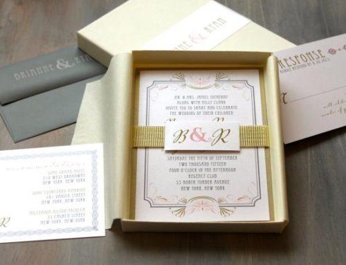 L'invito di matrimonio in scatola