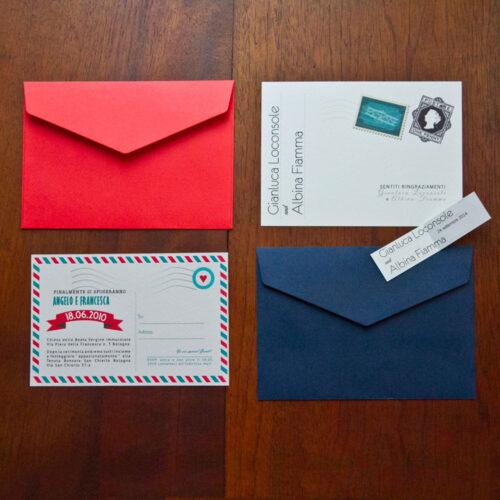 partecipazione di nozze air-mail