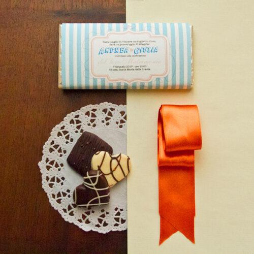 partecipazioni matrimonio tavoletta di cioccolata