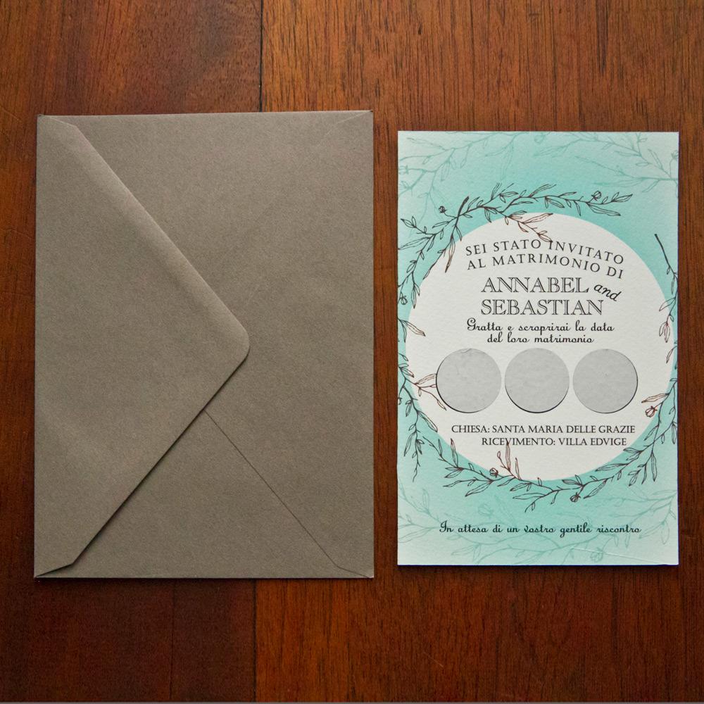 partecipazioni matrimonio gratta e vinci