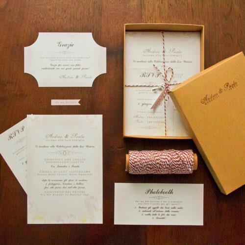 partecipazioni matrimonio con scatola