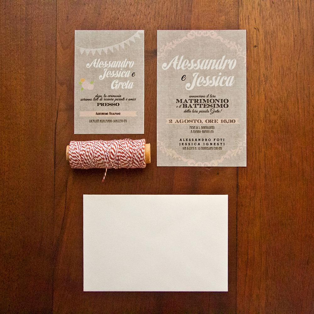 partecipazione nozze con festone