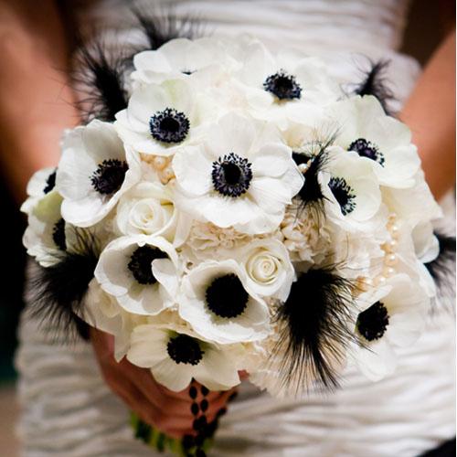 bouquet ispirazioni per un matrimonio bianco e nero
