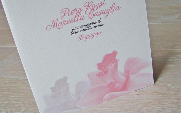 partecipazioni di matrimonio con orchidee