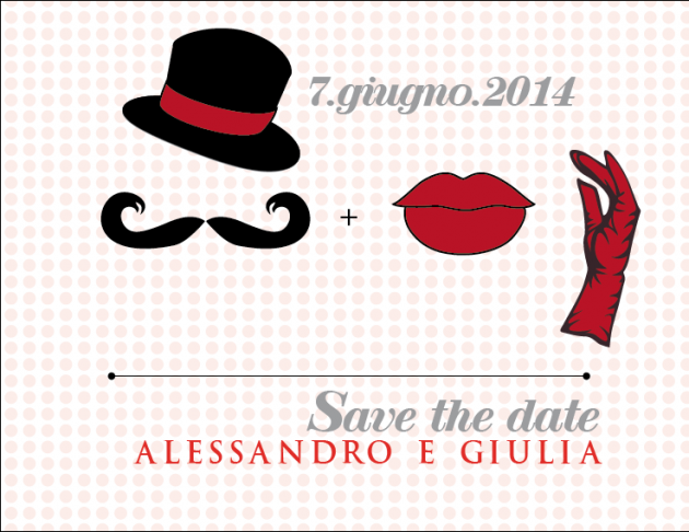 Save the Date free printable con i moustache