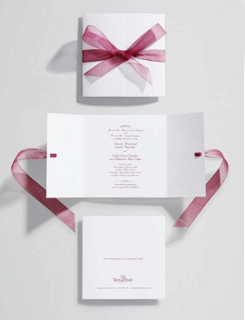 Partecipazioni di nozze con il fiocco