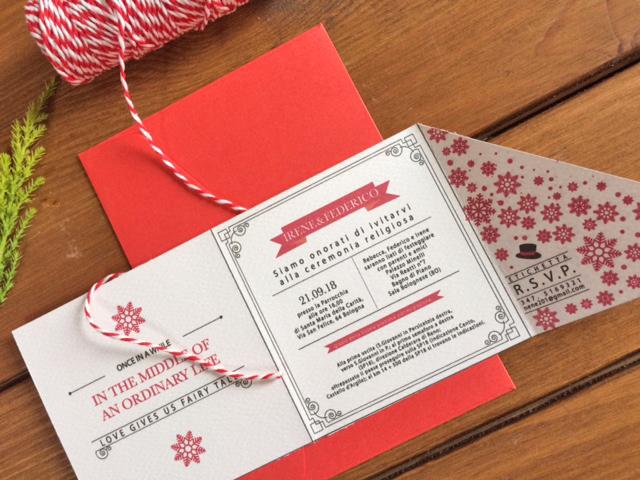 partecipazioni di matrimonio a tema natalizio