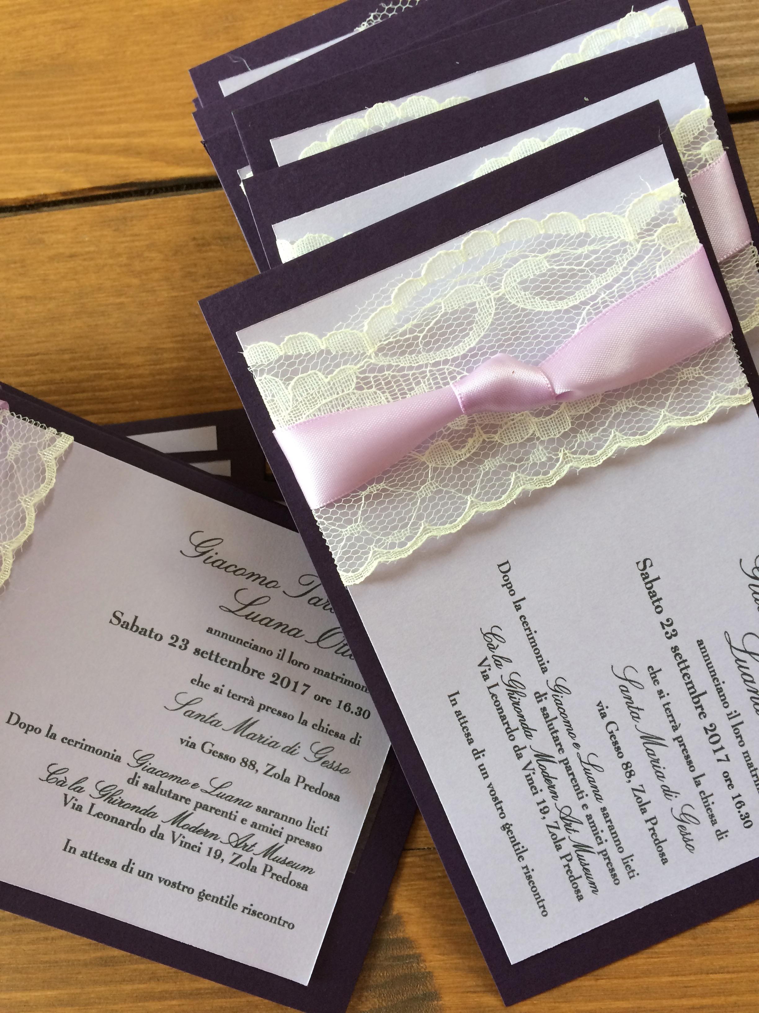 Partecipazioni di matrimonio in stile shabby chic