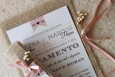 partecipazioni nozze rustica