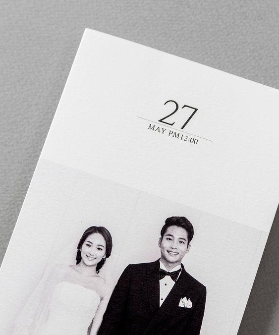 Partecipazioni di matrimonio eleganti ed essenziali con foto