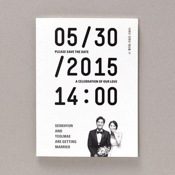 Partecipazioni di matrimonio eleganti ed essenziali con data