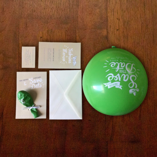 Partecipazioni di nozze con palloncino