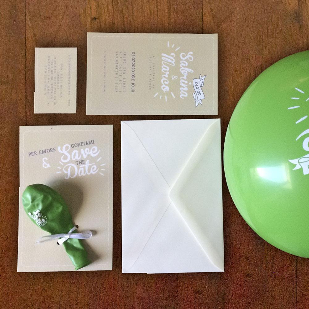 Partecipazioni nozze palloncino