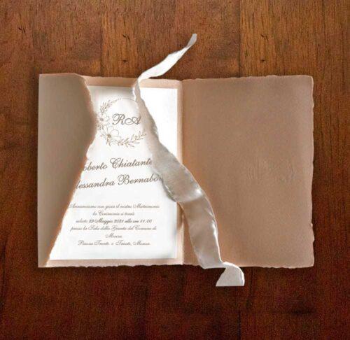 Partecipazioni carta amalfi e nastro