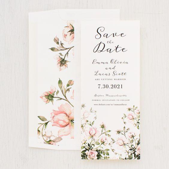 Partecipazioni matrimonio con i fiori
