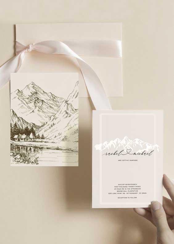 Partecipazioni matrimonio montagna