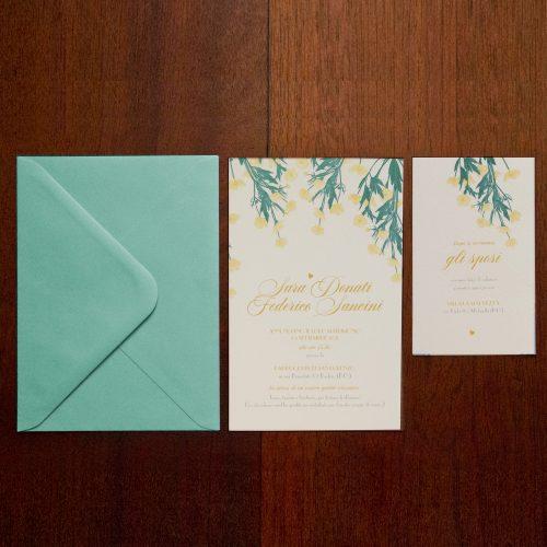 Partecipazioni nozze tema fiori