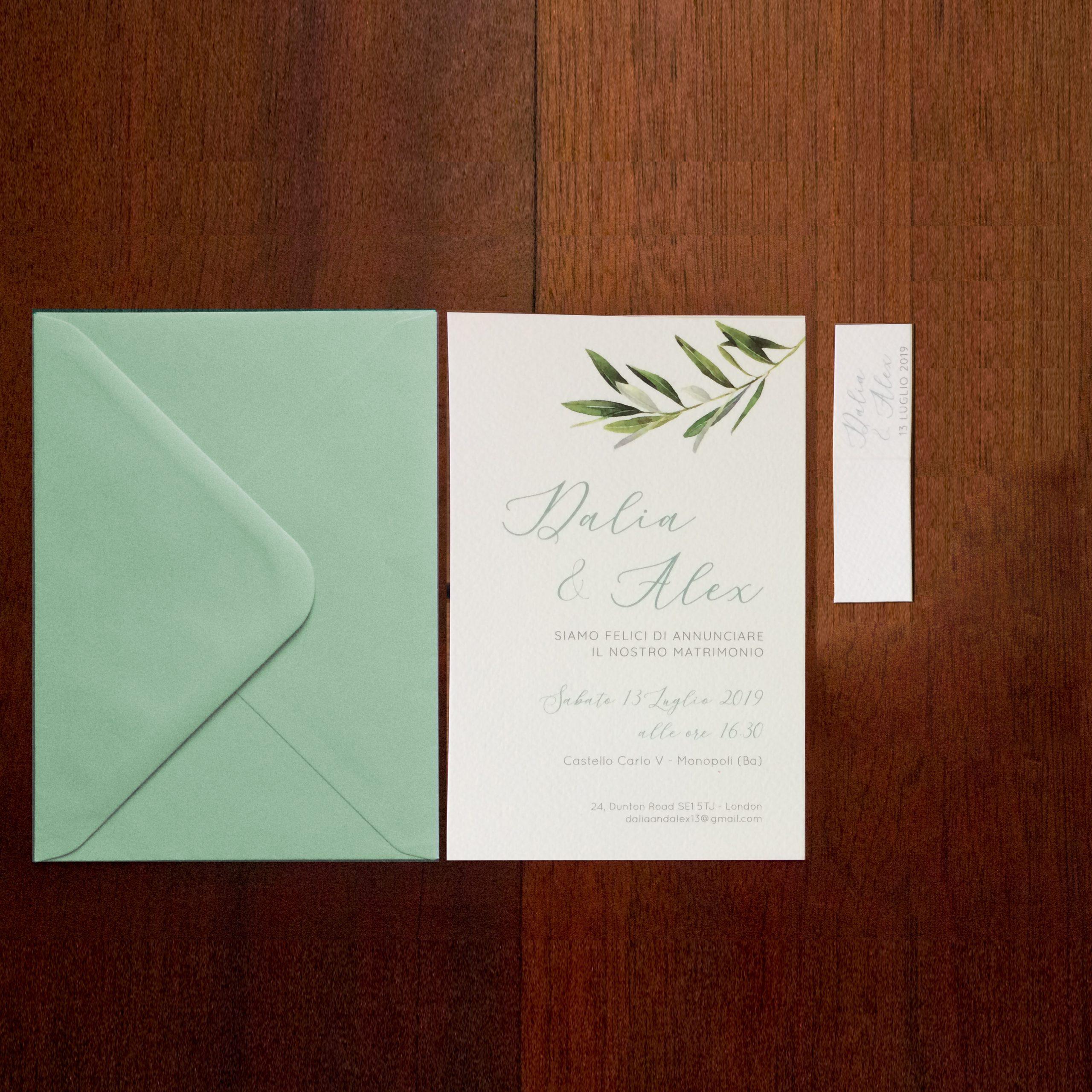 Partecipazioni nozze ulivo