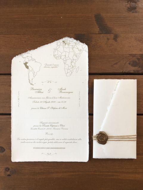 Partecipazione matrimonio eleganti