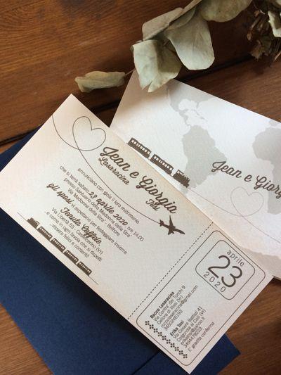 Partecipazioni nozze biglietto aereo