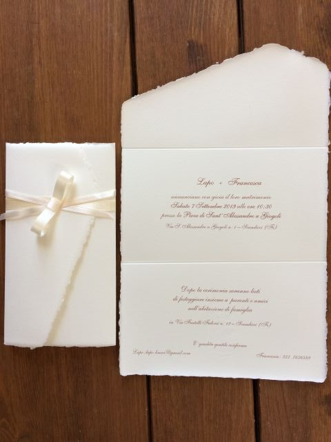 Partecipazioni nozze eleganti