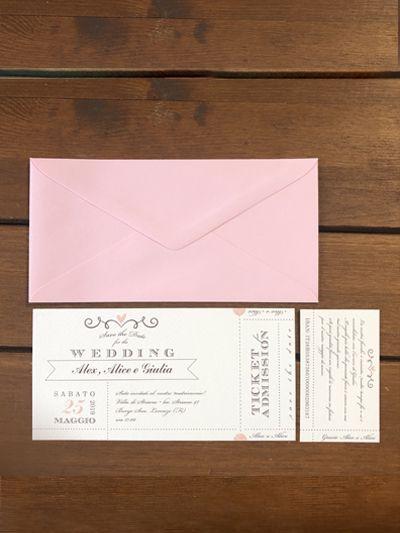 Partecipazioni matrimonio biglietto cinema